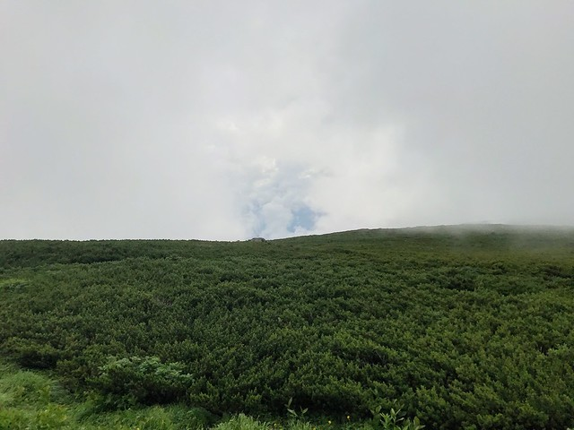 乗鞍岳 乗鞍スカイライン 隙間の青空