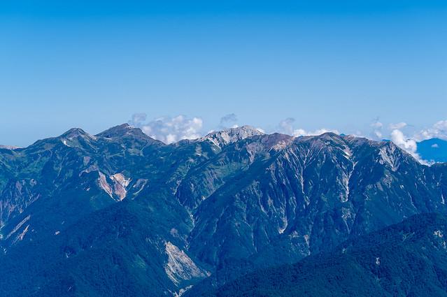 白馬の山々@剱岳