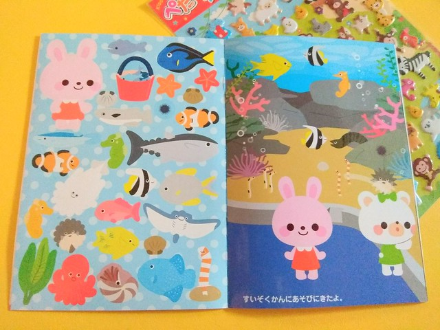 Sticker book from Daiso