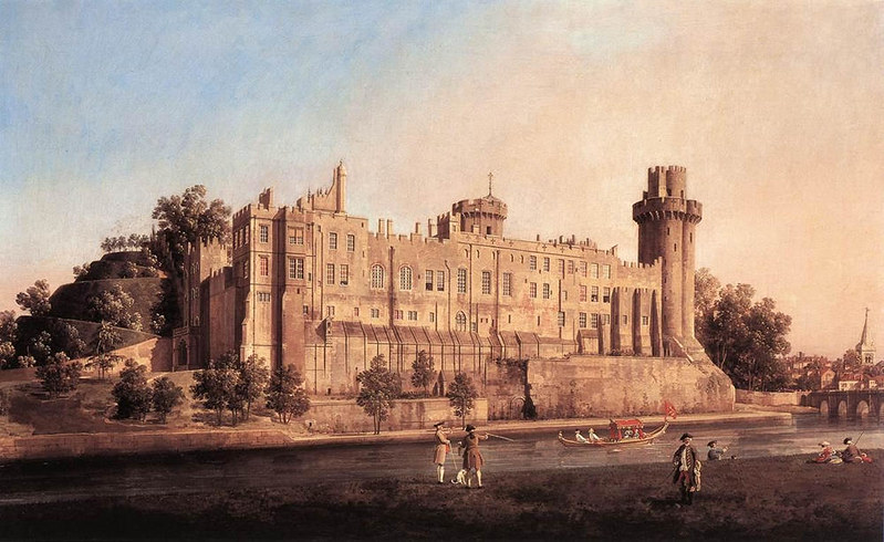 Warwick Castle, the South Front by Canaletto, 1748