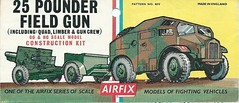 Airfix Kit - 25 Pdr. Field Gun (including Quad, Limber & Gun Crew)