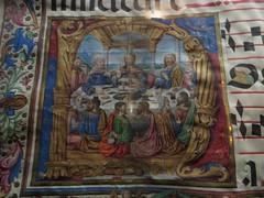 Enluminure sur parchemin (XVe), musée du monastère royal de Santa María de Guadalupe (XIVe), Guadalupe,  province de Caceres, Estrémadure, Espagne.