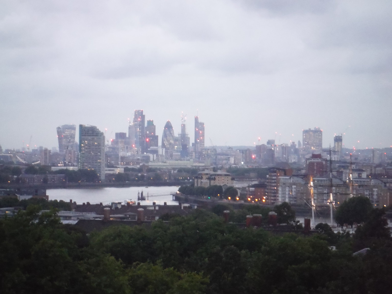 The City of London, from Viewpoint by Observatory SWC Short Walk 12 - Greenwich Park