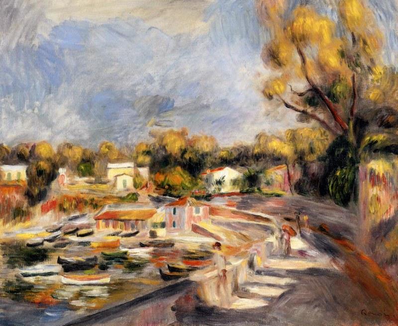 Cagnes Landscape by Pierre Auguste Renoir, 1910