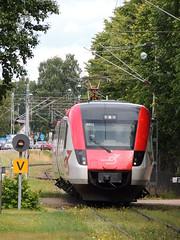 A Tag i Bergslagen (TiB) X54 'Regina' unit between Mora Strand and Mora C. with a service for Borlange, Sweden