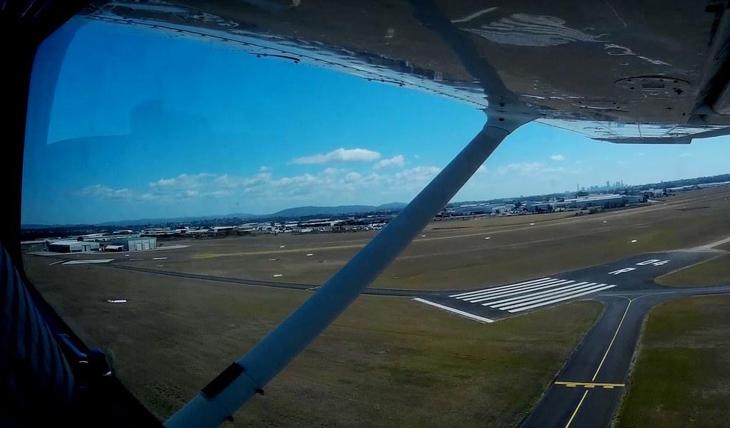 Departing Archerfield on 28R