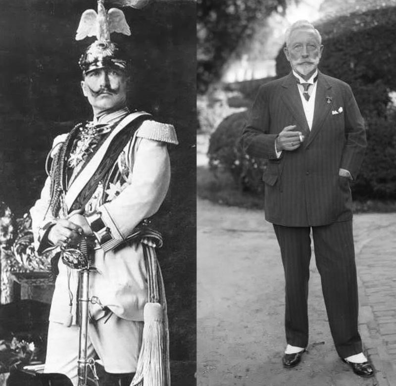 Wilhelm II in 1905 and 1933