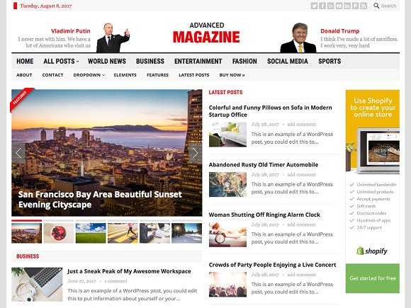 Advanced Magazine v1.1 – Newspaper Theme