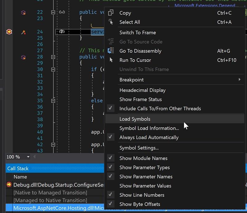 Debugging into ASP NET Core 2 0 source code - Laurent Kempé