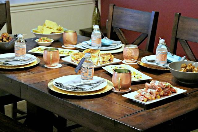 Peachy Brunch Table