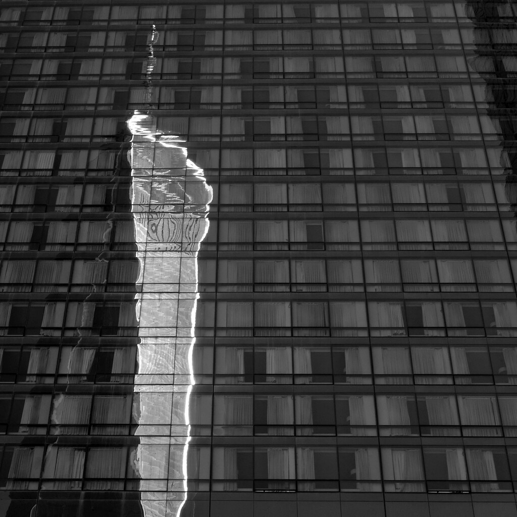 One World Trade Center reflected