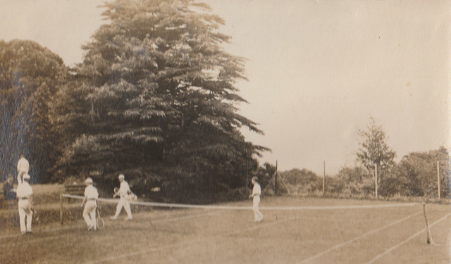 Warden's tennis court, in front of the main house.