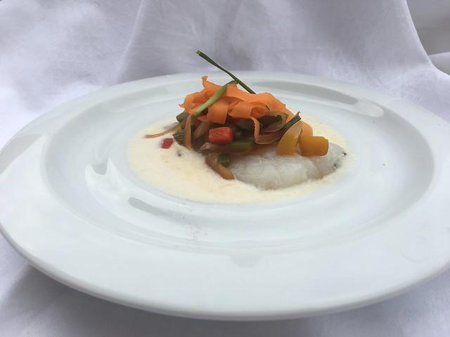 Bacalao en salsa de coco