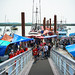The new dock of fresh seafood market at Steveston Fisherman's Wharf in Richmond BC Canada