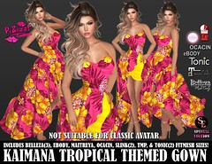 KAIMANA TROPICAL GOWN PIC