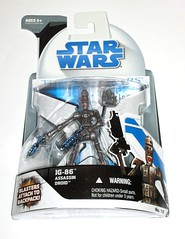 ig-86 assassin droid no. 18 star wars the clone wars basic action figures blue white card 2008 hasbro mosc a