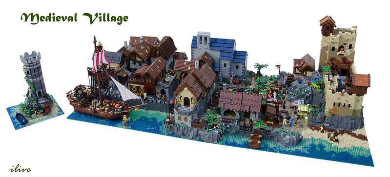 MOC Medievale - Medieval Village