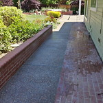 Seeded Exposed Aggregate Walkway In Davis