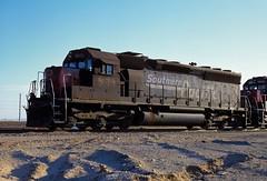 Southern Pacific 8678 at Yuma, AZ. November 15, 1996.
