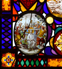 St George is tortured with a cross saw