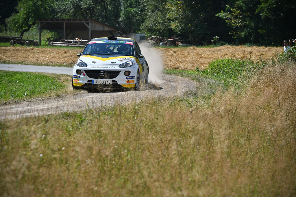 32 HUTTUNEN Jari (FIN) LINNAKETO Antti (FIN) Opel Adam R2 action during the 2017 European Rally Championship Rally Rzeszowski in Poland from August 4 to 6 - Photo Wilfried Marcon / DPPI
