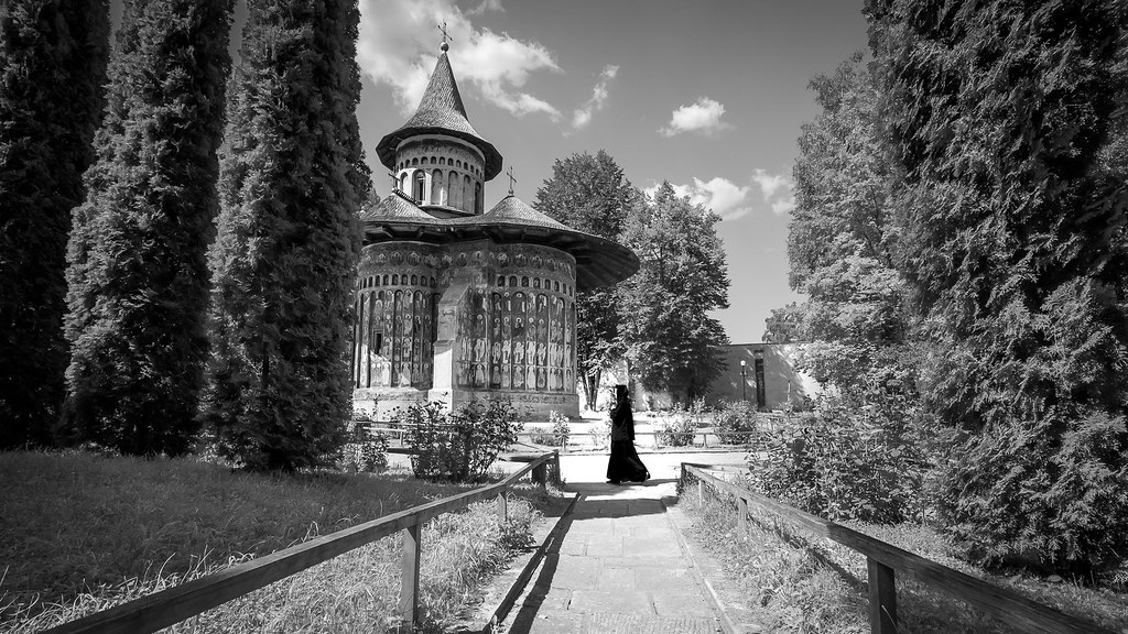 Voronet Monastery - Romania - Black and white photography