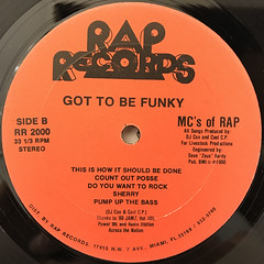 MC'S OF RAP:GOT TO BE FUNKY(LABEL SIDE-B)