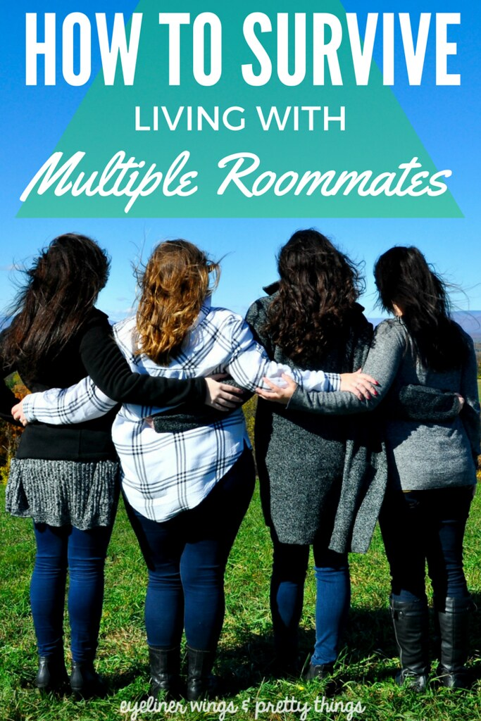 Survive Living With Multiple Roommates - Tips for Living with Roommates // ew & pt