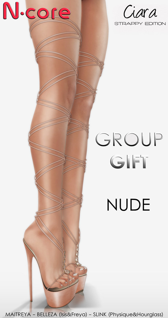 "N-core CIARA ""Strappy Edition"" (Nude) GROUP GIFT! - SecondLifeHub.com"
