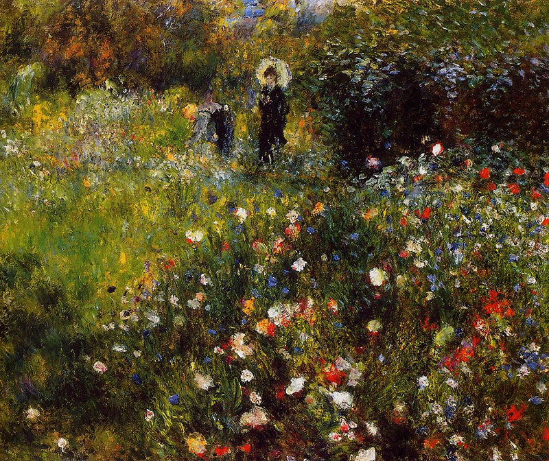 Woman with a Parasol in a Garden by Pierre Auguste Renoir, 1873