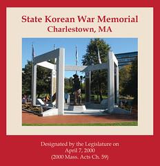 State Korean War Memorial, Charlestown, MA