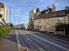 Tram and buildings in Caen