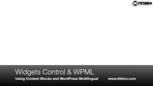 Widgets Control Content Blocks and WPML