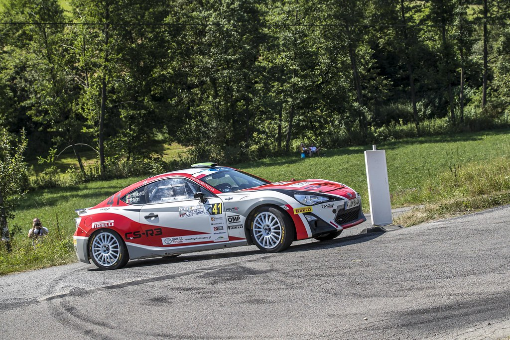 41 ROSSETTI Luca (ITA) MORI Eleonora (ITA) Toyota GT86 CS-R3 action during the 2017 European Rally Championship Rally Rzeszow in Poland from August 3 to 5 - Photo Gregory Lenormand / DPPI