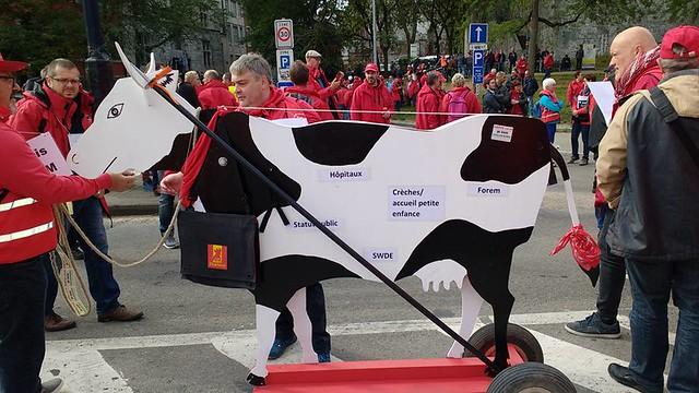 Manifestation de la CGSP à Namur. Défendre les services publics et préparer la grève du 10 octobre