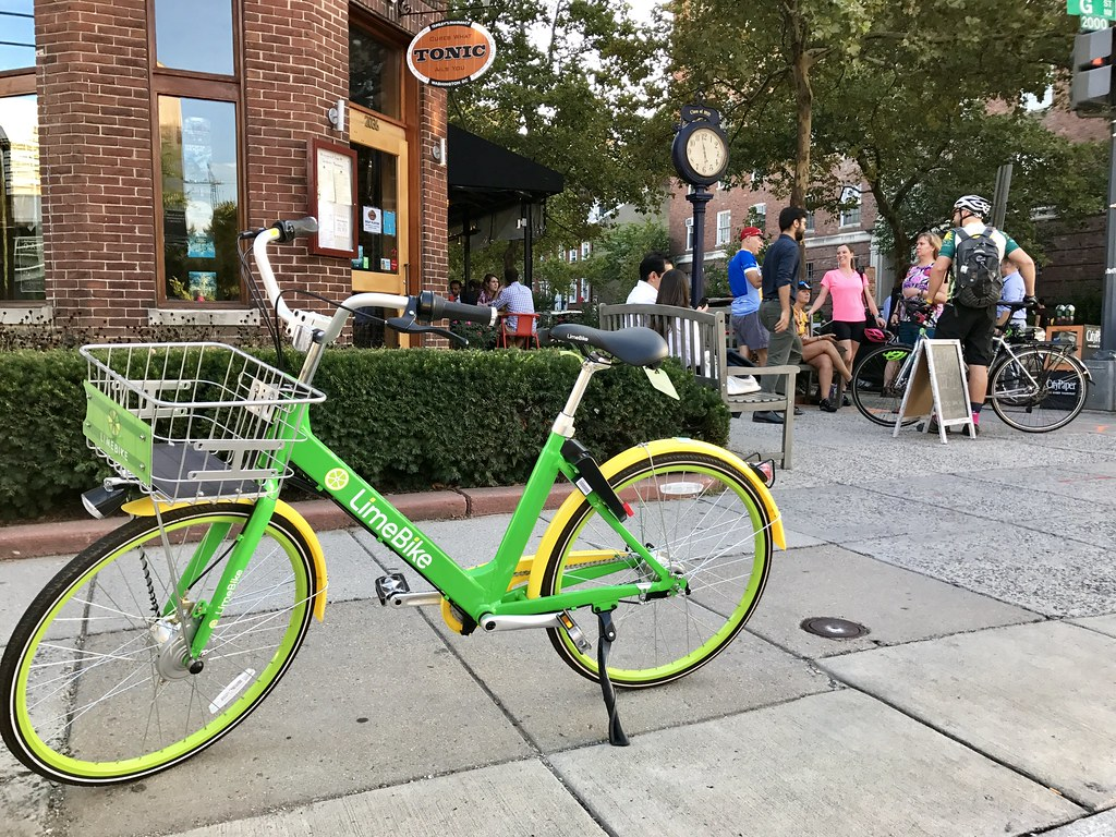 LimeBike outside Tonic
