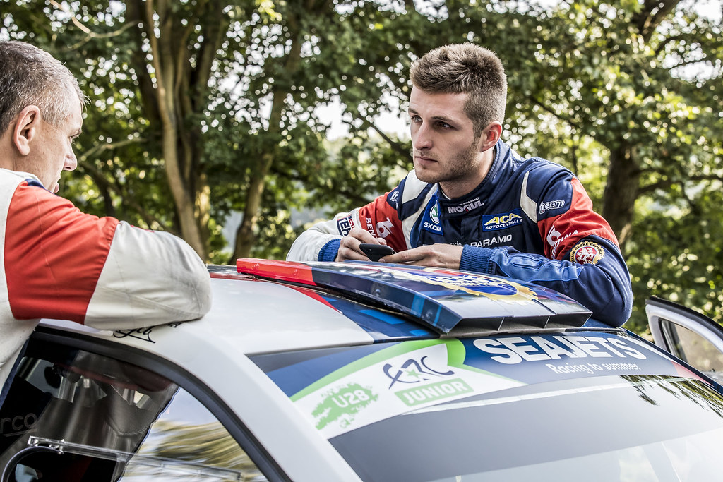 CERNY Jan (CZE) CERNOHORSKI Petr (CZE) Skoda Fabia R5 ambiance portrait during the 2017 European Rally Championship ERC Barum rally,  from August 25 to 27, at Zlin, Czech Republic - Photo Gregory Lenormand / DPPI