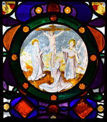 Crucifixion flanked by the Blessed Virgin, St Mary Magdalene and St John