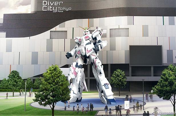 『發光』&『變形』機構真實再現!台場「獨角獸鋼彈 等身大立像(実物大ユニコーンガンダム立像)」09 月 24 日正式公開!