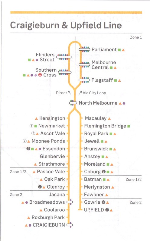 Craigieburn Upfield timetable August 2017 - Map