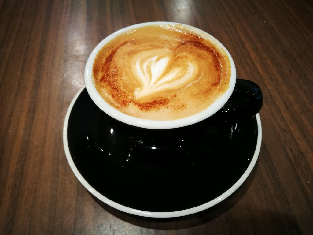 Flat white at the Cafe