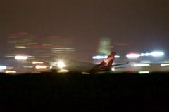 Qantas Airways Boeing 747 -400 gathering speed 2nd best panned shot DSC_0311