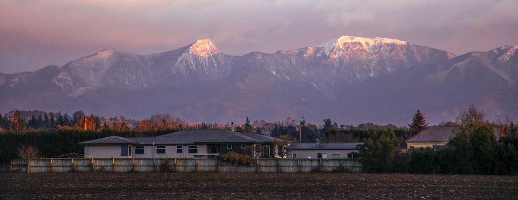 solopgang i Nelson, New Zealand