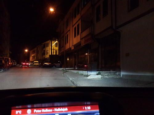 Kastamonu belvárosa az éjszaka közepén