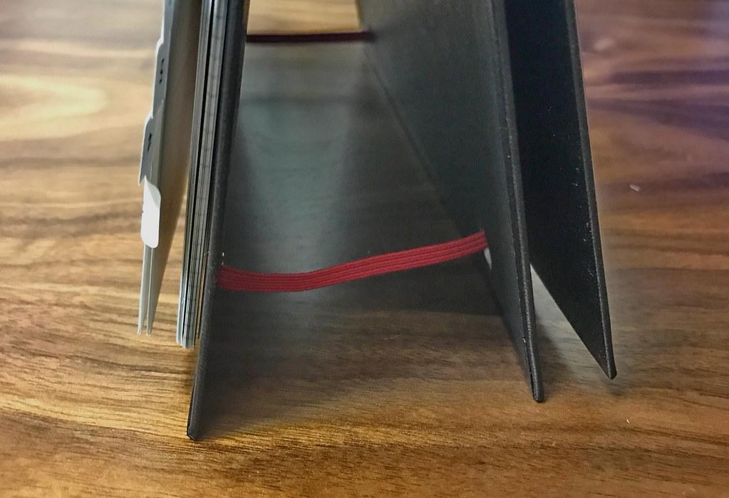 カレンダー手帳立てたときのゴムバンド