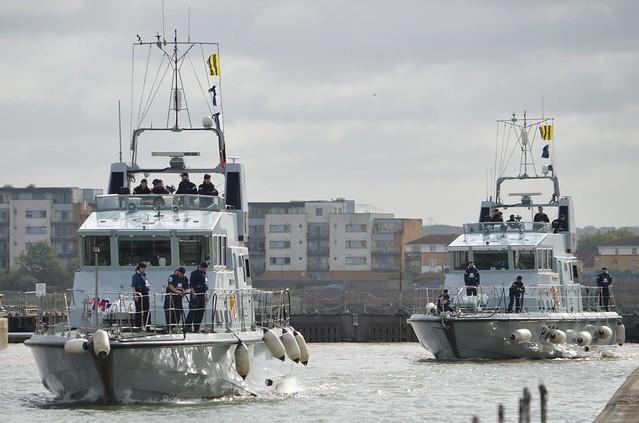 HMS Puncher P291  &  HMS Trumpeter P294 (6) @ KGV Lock 11-09-17