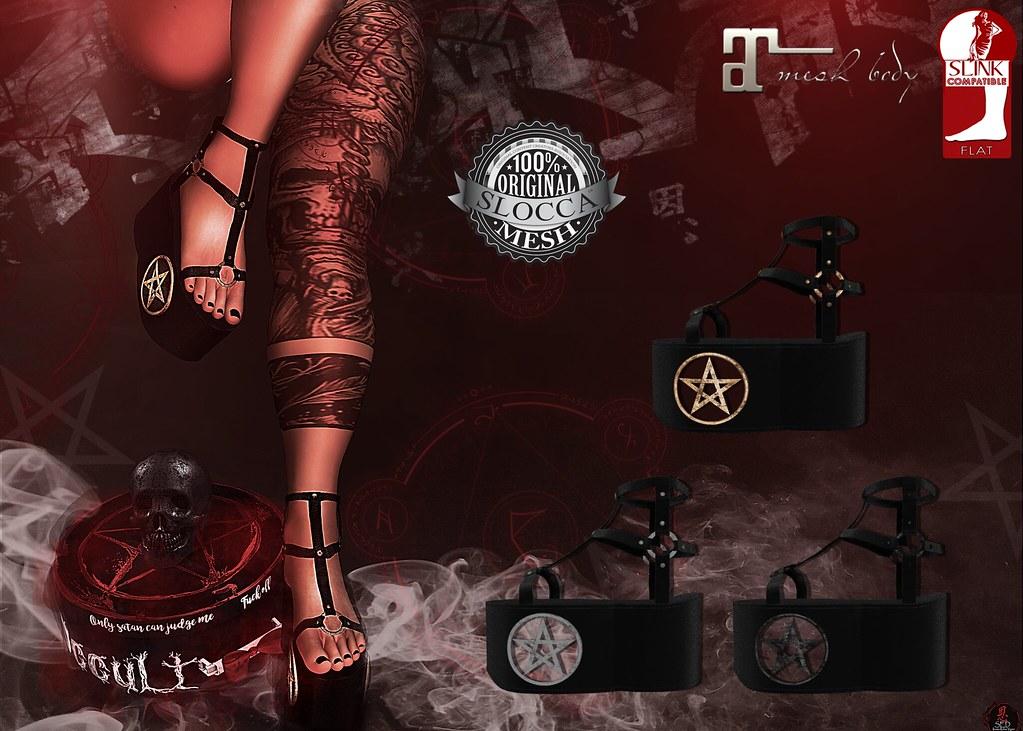 + Occult + Mysteria Shoes {Maitreya & Slink Flat} - TeleportHub.com Live!