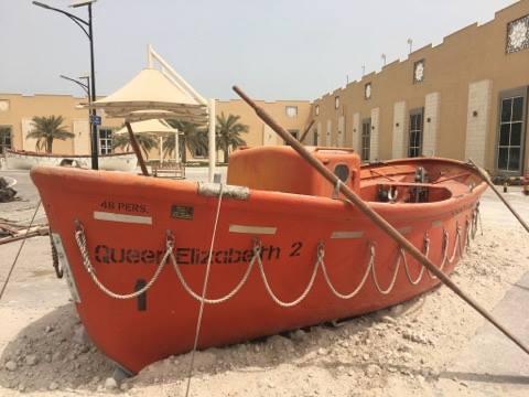 QE2 rescue lifeboat at Port Rashid, Dubai, July 12, 2017