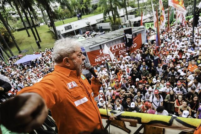 Lula participa de ato da Frente Brasil Popular na cidade do Rio de Janeiro - Créditos: Joka Madruga