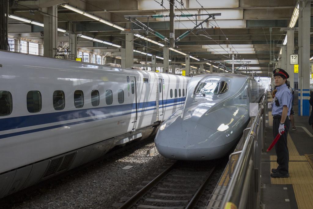 Taking the shinkansen from Hiroshima to Kumamoto